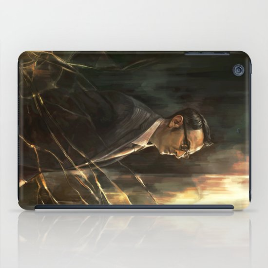 The Abyss Gazes Back iPad Case