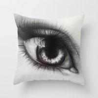 Eye Sketch 1  Throw Pillow
