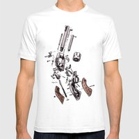 Exploded Gun Mens Fitted Tee White SMALL