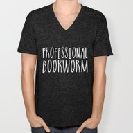 Professional Bookworm - … Unisex V-Neck