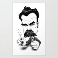 Nietzsche Says No! Art Print