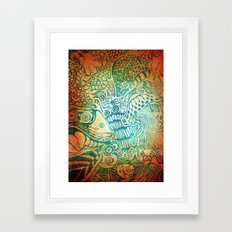 Sea Swirl Framed Art Print
