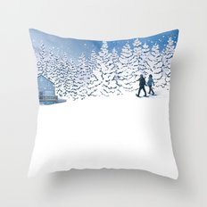 The Fools on the Hill Throw Pillow