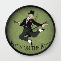 Putin on the Ritz Wall Clock