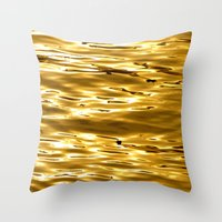 Gold To My Beloved Anna Throw Pillow