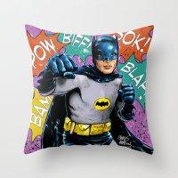 SAME BAT-TIME Throw Pillow