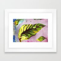 big green leaf Framed Art Print