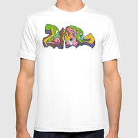 Monsters Mens Fitted Tee White SMALL