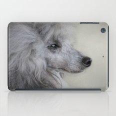 Longing - Silver Standard Poodle iPad Case
