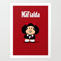 Coupling Up Mafialda Art Print