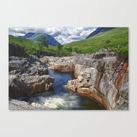 Glen Etive Waterfall Canvas Print