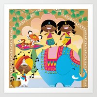 India Party Art Print