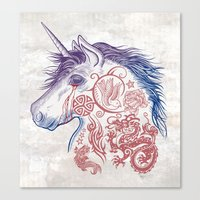 War Unicorn Canvas Print