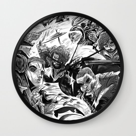"""Milkbread"" band poster Wall Clock"