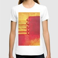 Abstract Womens Fitted Tee White SMALL