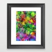 Dream Colored Leaves Framed Art Print