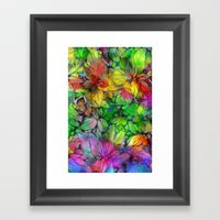 Dream Colored Leaves Framed Art Print