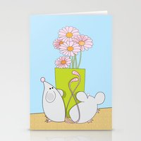 Acting like mice.... Stationery Cards