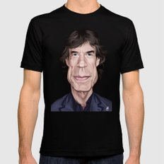 Celebrity Sunday ~ M ick Jagger SMALL Mens Fitted Tee Black