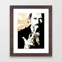 Hugh Laurie/Dr. Gregory House Framed Art Print