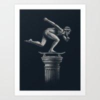 The Skater Art Print