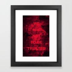WANTBT Framed Art Print