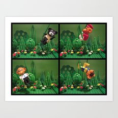 we love the jungle Art Print