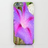 Mauve and Magenta Morning Glory with Water Drops iPhone 6 Slim Case