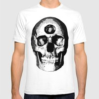 Third Eye Bones (Black and White Edition) Mens Fitted Tee White SMALL