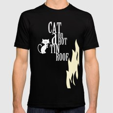 CAT ON A HOT TIN ROOF Mens Fitted Tee Black SMALL