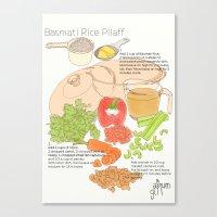 Basmati Rice Pilaff Canvas Print