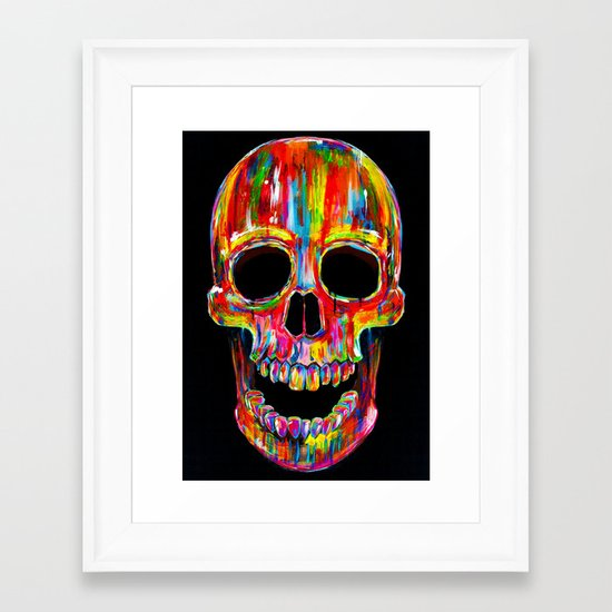 Chromatic Skull Framed Art Print