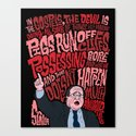 Scalia and The Devil Canvas Print