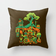 SUBterrian (Make A Wish) Throw Pillow