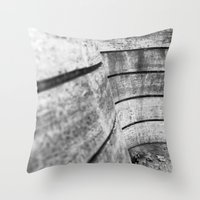 Leaving leaves Throw Pillow