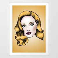 Blonde Beauty Art Print