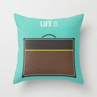 Life is short Throw Pillow