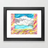 Room With The Mountain M… Framed Art Print