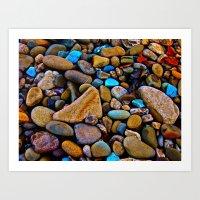 River Rock Art Print