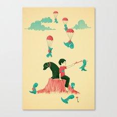 Tiny T-Rex Invasion Canvas Print