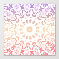 Ombre Mandala Purple Red Canvas Print