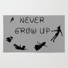 Never Grow Up - Inspired by Peter Pan Rug
