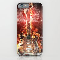Brennende Gitarre iPhone 6 Slim Case