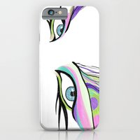 iPhone & iPod Case featuring Peacock White  by Alyssa Bermudez