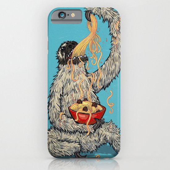 Three Toed Sloth Eating Spaghetti From a Bowl iPhone & iPod Case