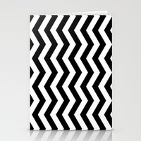 PATTERN#01 =STRIPES/BLACK+WHITE= Stationery Cards