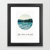 Life on the Lake Framed Art Print