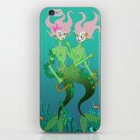 Siamese Mermaids iPhone & iPod Skin