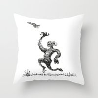 Chasing Birds Throw Pillow