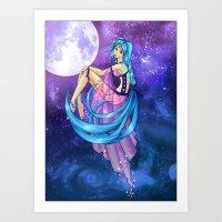 .:Celestial Goddess:. Art Print
